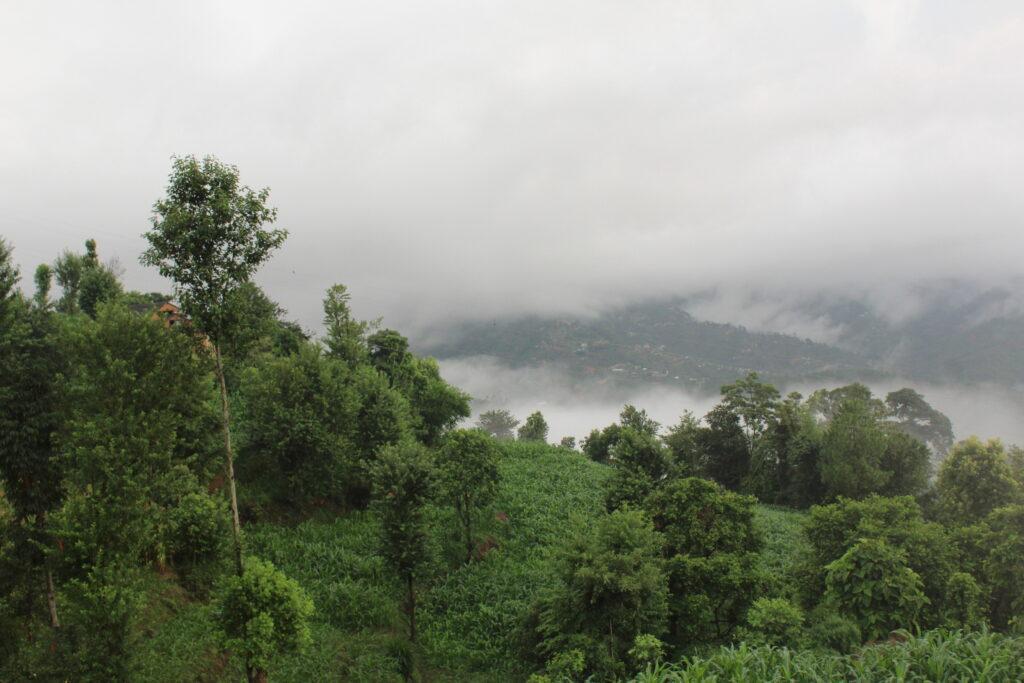 Valley mist in Nepal