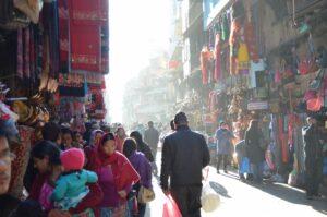A busy street in Indra Chowk, Kathmandu