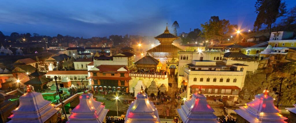Pashupatinath in the evening