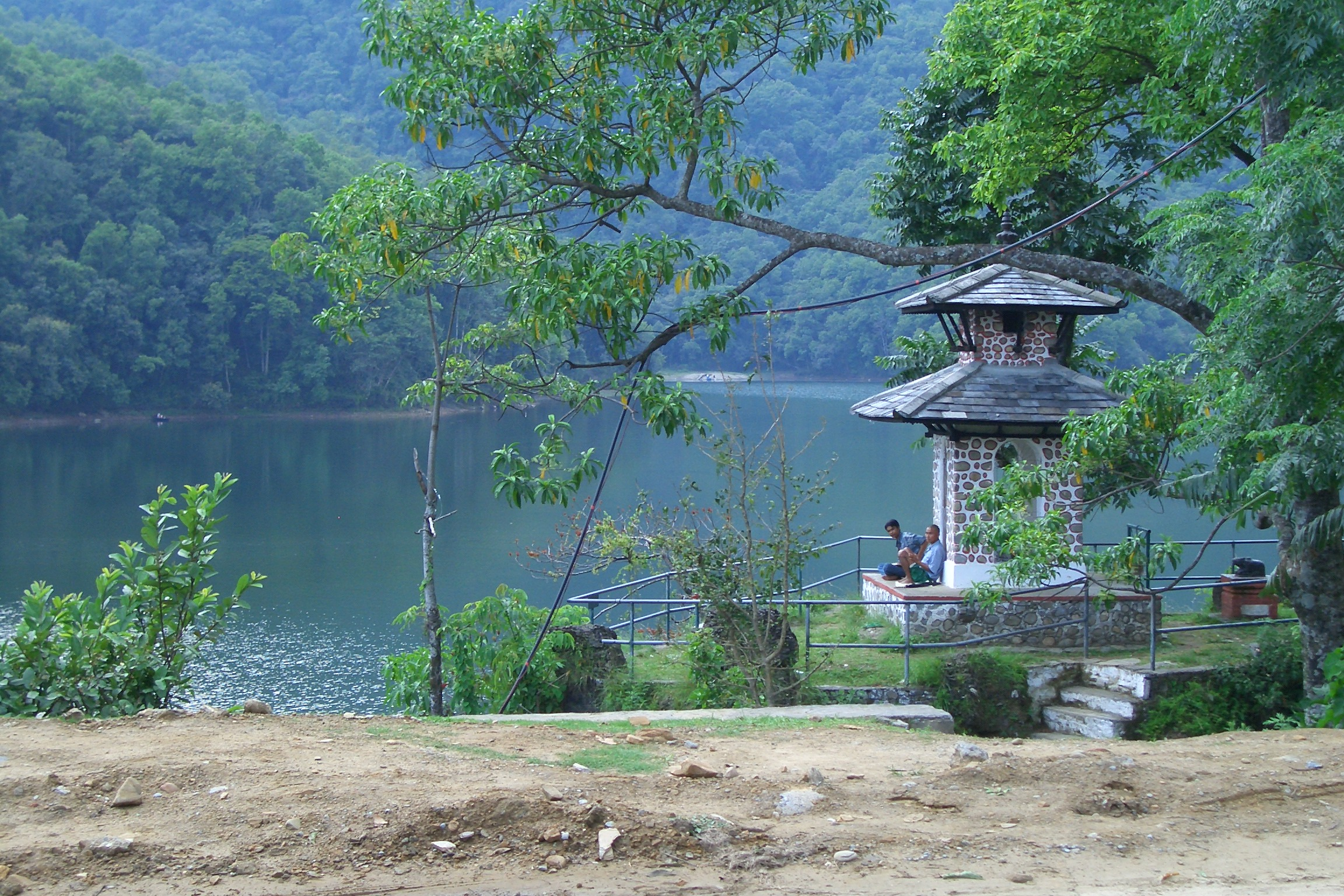 Relaxing by the lake in Pokhara
