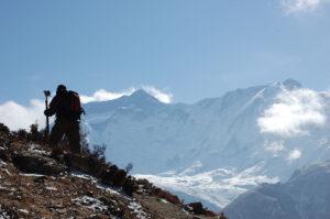 A trekker on the Annapurna Circuit