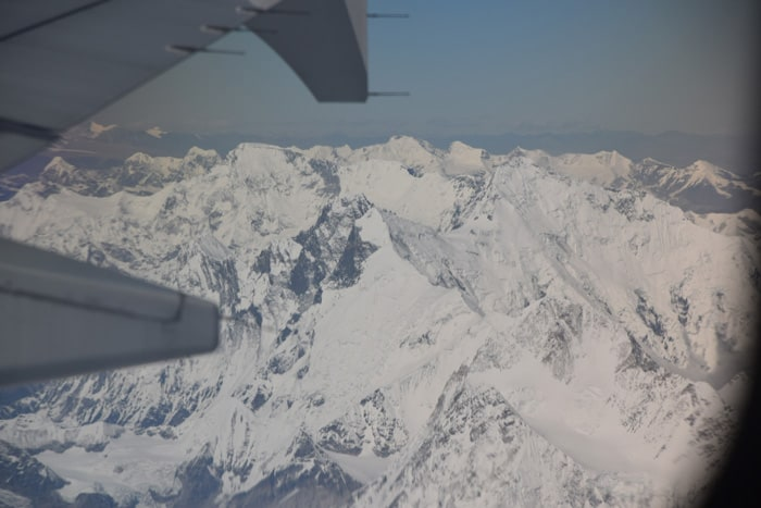 Everest view from the plane