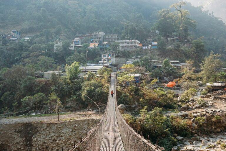 A bridge in the Manaslu Region