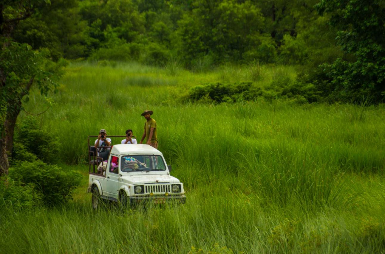 On safari in Bardia National Park