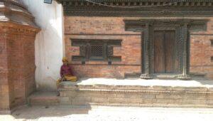 Local woman smoking in Bhaktapur (cr. Paul Cowey)