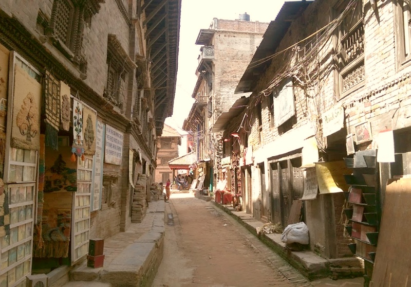 A side street in Bhaktapur