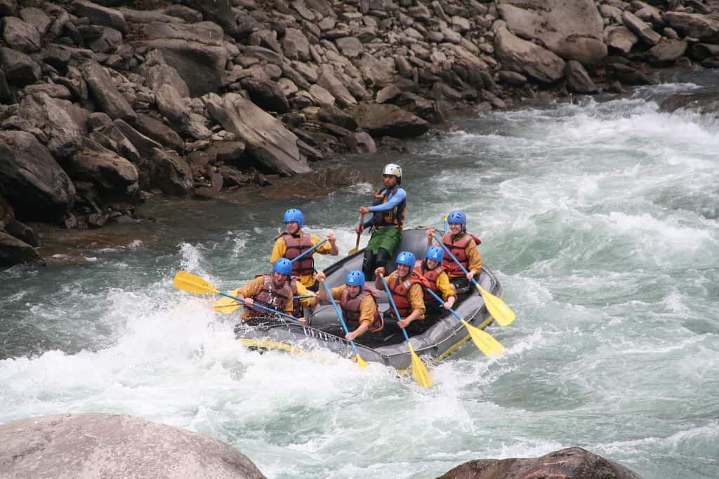 Rafting on the Bhote Kosi river