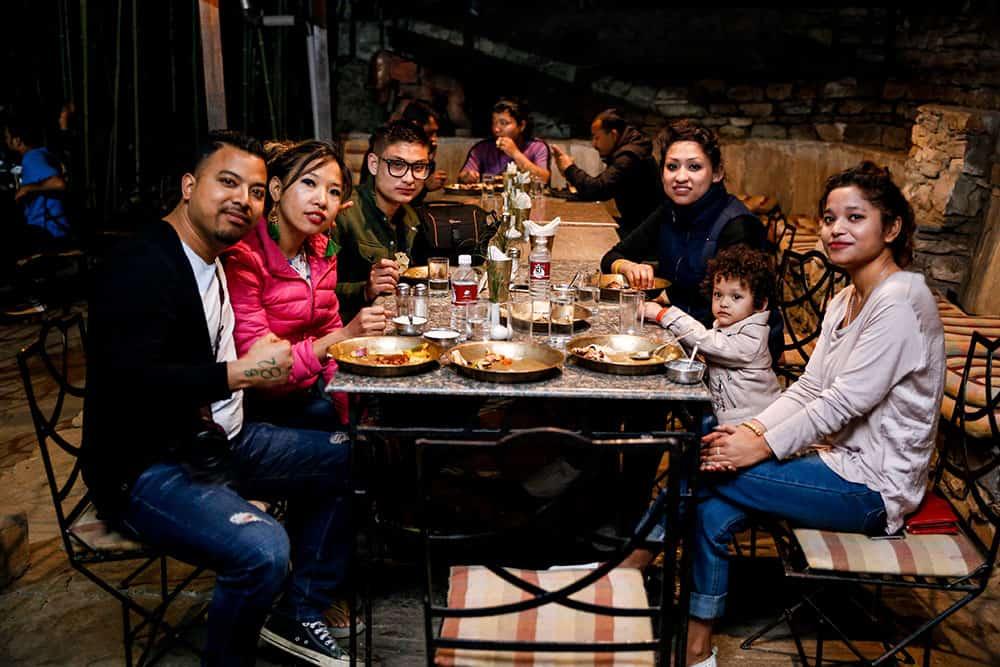 dinner at The Last Resort