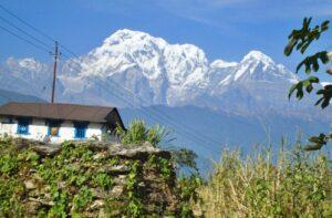 A house in Hemjakot village, Nepal