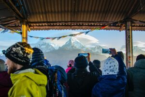 Taking photos with smartphones in Nepal