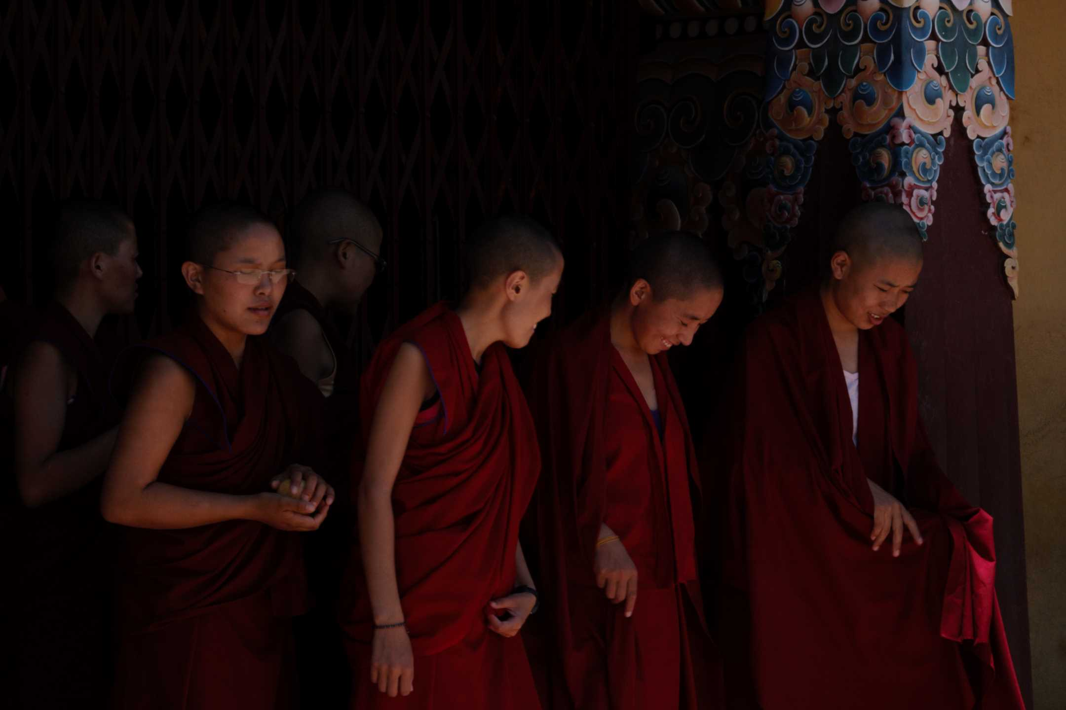 Monks at Neydo monastery