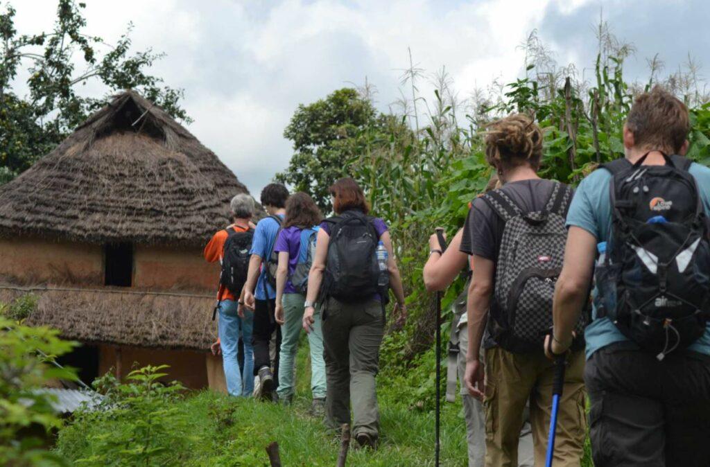 Tourists on the Kathmandu Valley Community Day Hike