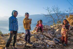 Local children in Panauti