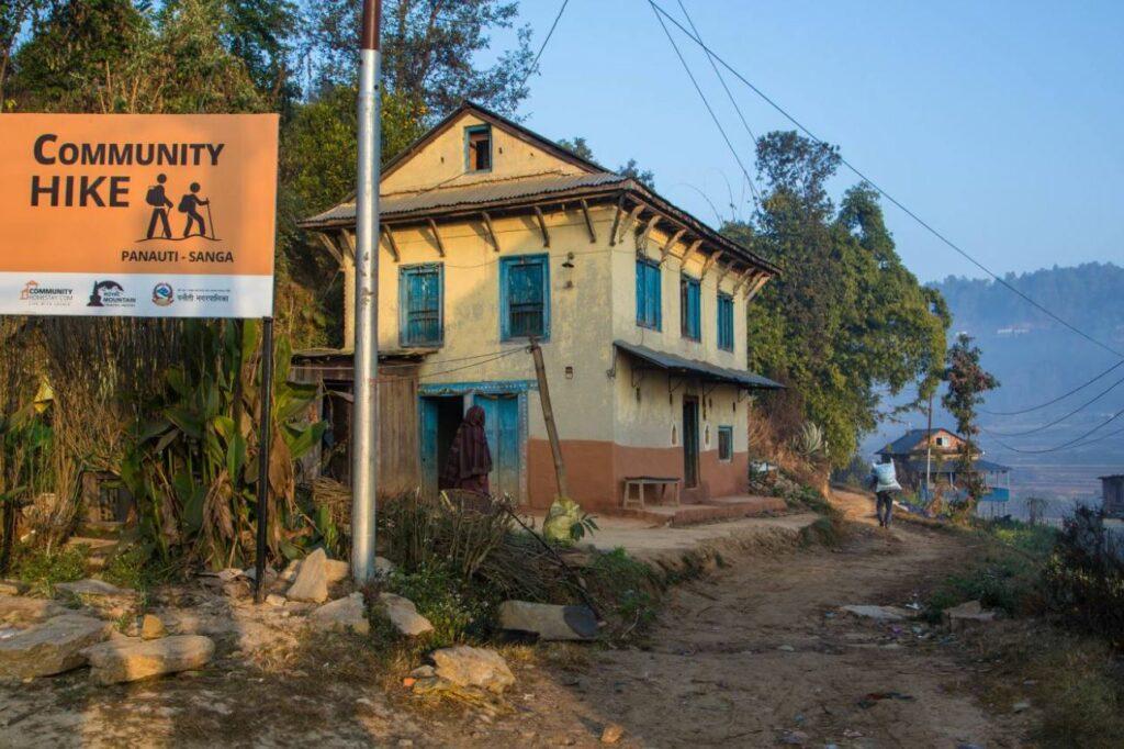 Signpost on the Kathmandu Valley Community Day Hike