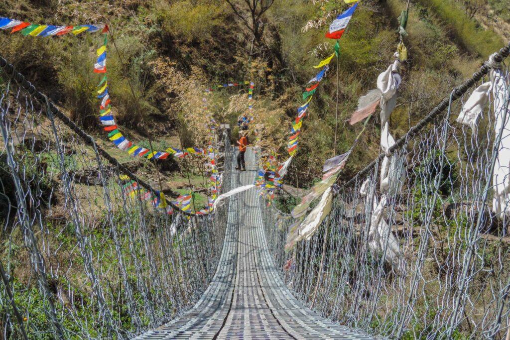 A bridge in the Tamang Region