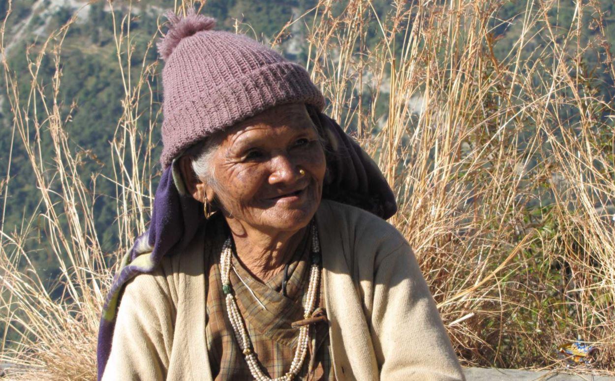 Smiling Tamang woman