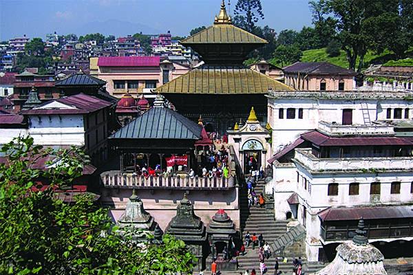 Colourful temple in Kathmandu