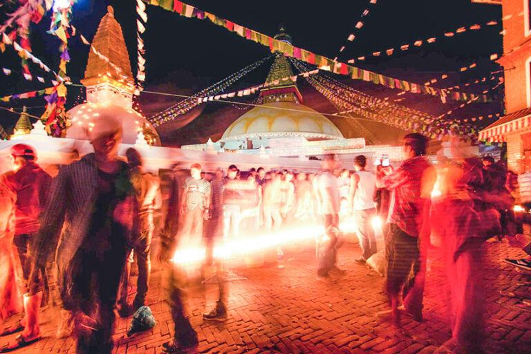 Night scenes at the Buddha Jayanti festival