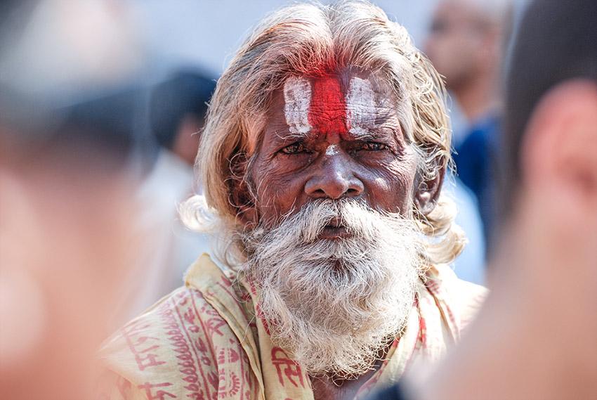 Holy man celebrating Maha Shivaratri