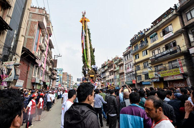 The streets of Kathmandu during Rato Machchhendranath
