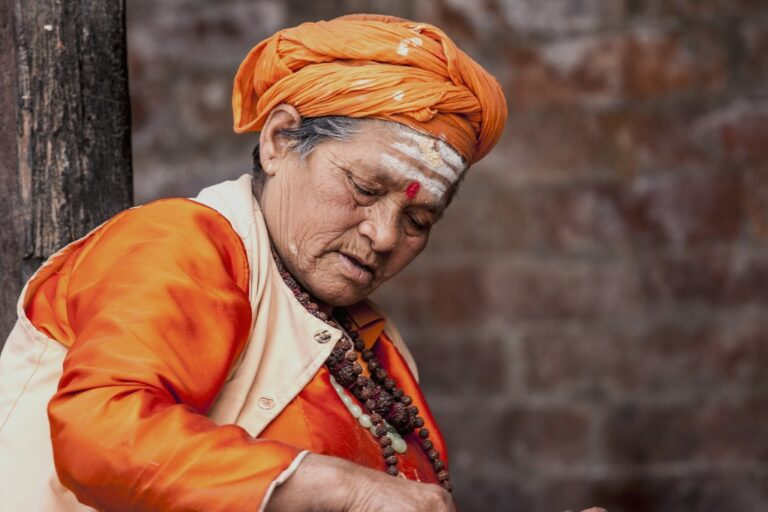 Local woman at Rishi Panchami festival in Nepal