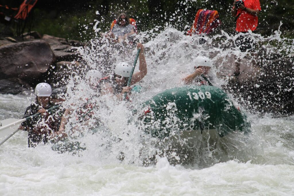 Rafting on a wild river by Julie Thornton